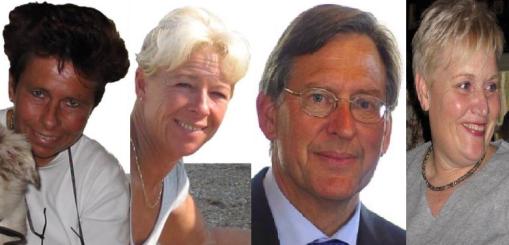 Sandra Burgemeestre Gerda de Waal Mathee Hogeboom Leny Wijnstok